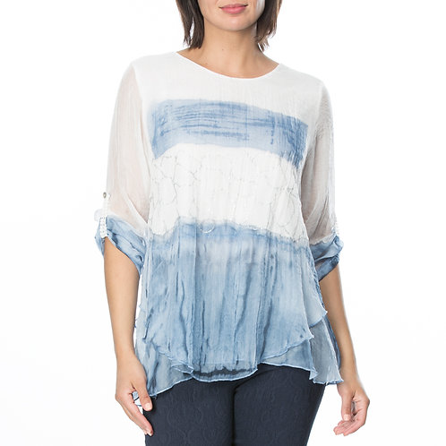 HAND DYED LAYERED TOP