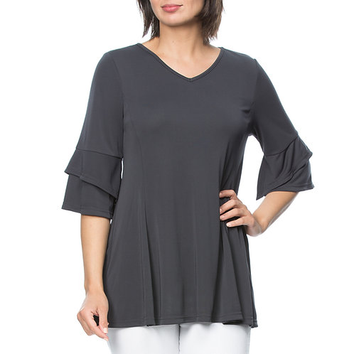DRY HANDLE V NECK JERSEY TUNIC