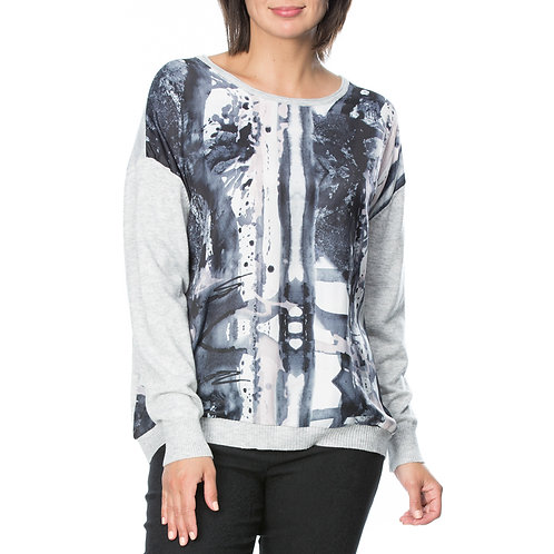LUXE PRINT FRONT KNIT
