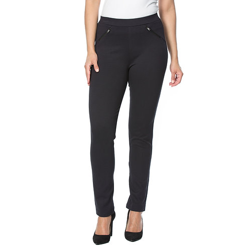 STRETCH JACQUARD PANTS
