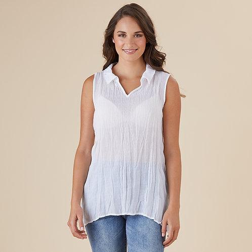 Threadz Sleeveless Crushed Shirt