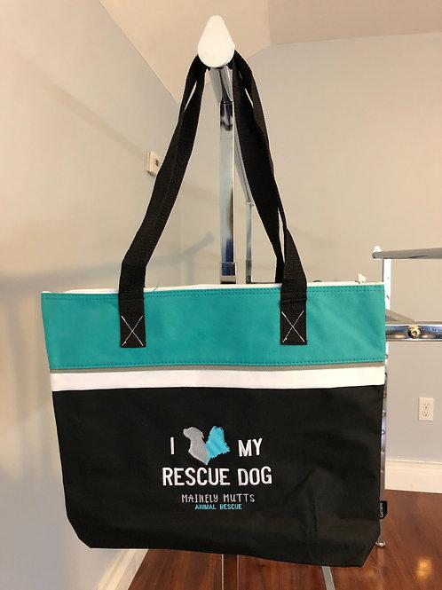 I Love My Rescue Dog Tote
