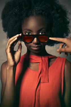 modelo gafas de sol