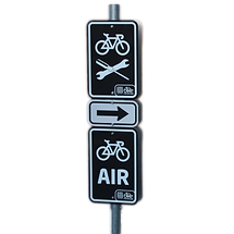directional signs for bikes