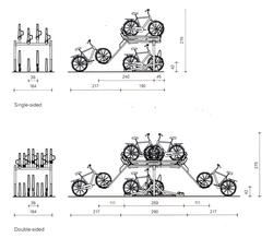 Support à vélo à deux étages