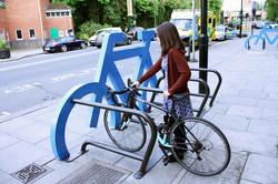 Support à silhouette de vélo géant