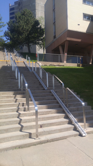Bike ramps on the University of Montreal campus