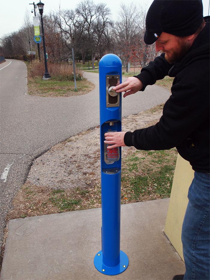 Station d'eau pour cyclistes