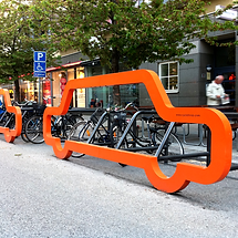 support vélo extérieur silhouette auto