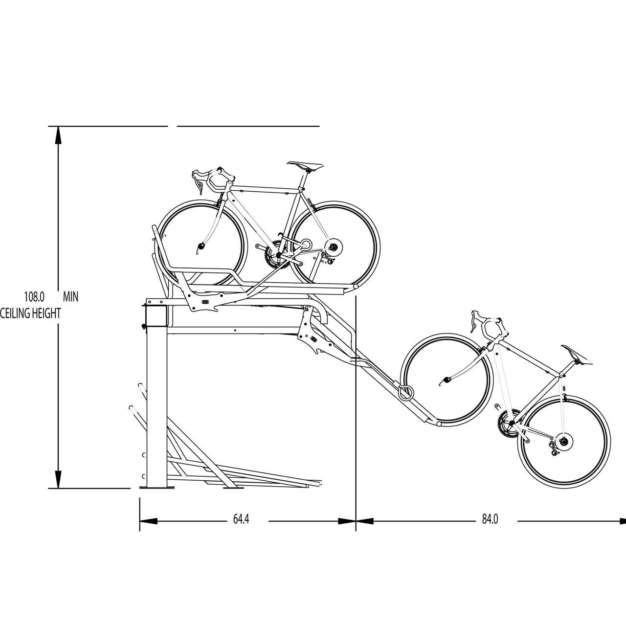 Support à vélo Stack Rack