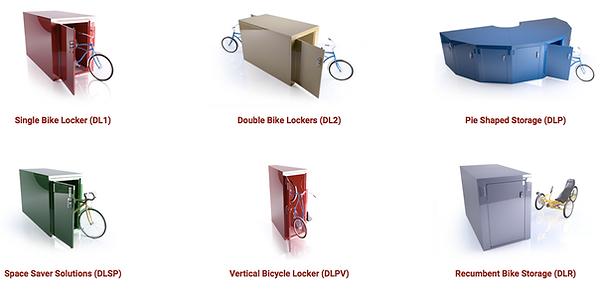 bike metal locker