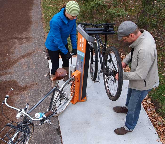 Station de réparation de vélo
