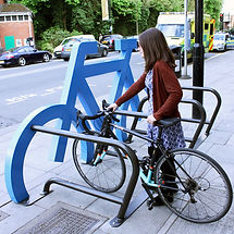 support vélo extérieur silhouette vélo