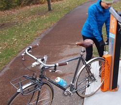 Socle à vélo