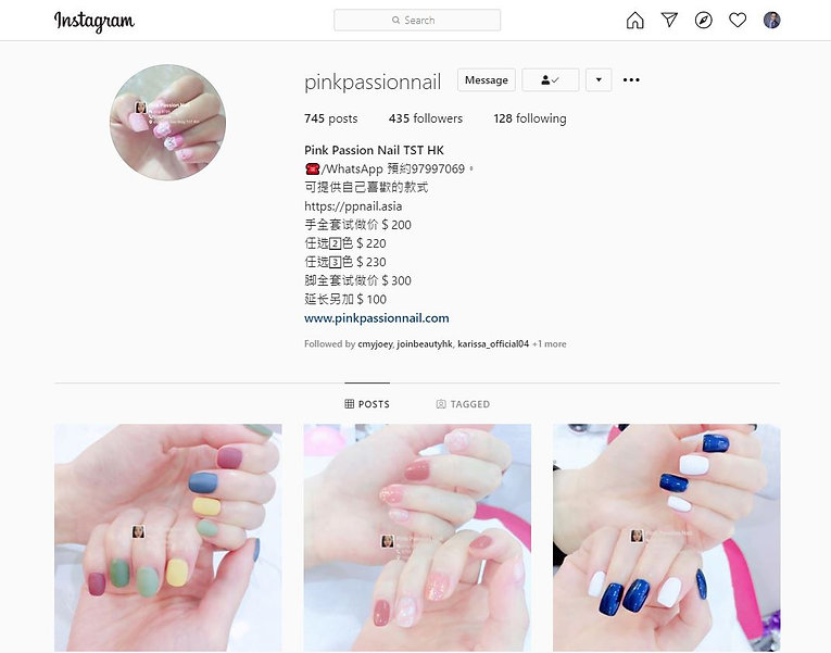 instagram of pink passion nail pinkpassi