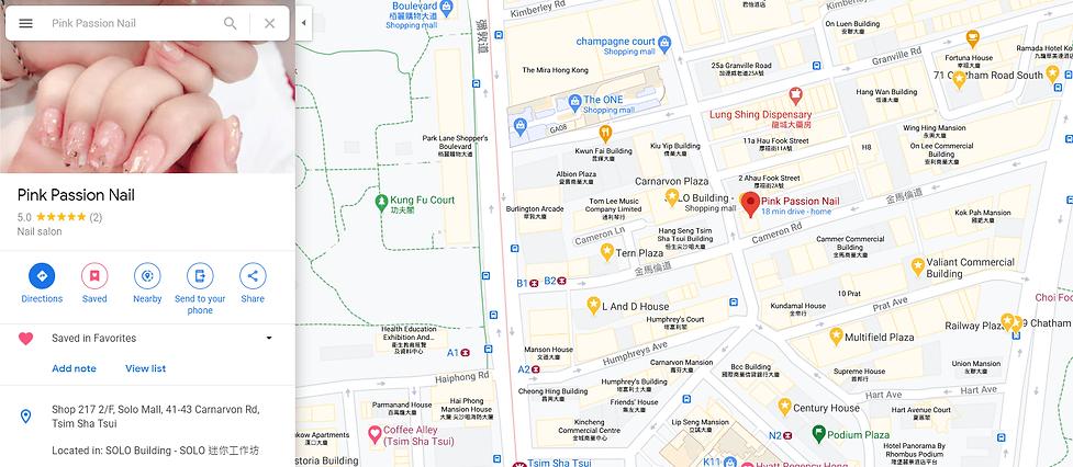 pink passion nail on google map pin-min.
