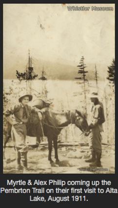 Whistler historic shot horse