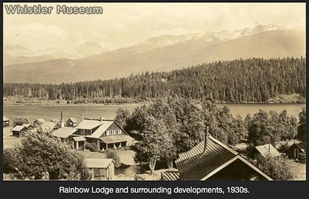 Whistler historic shot Rainbow