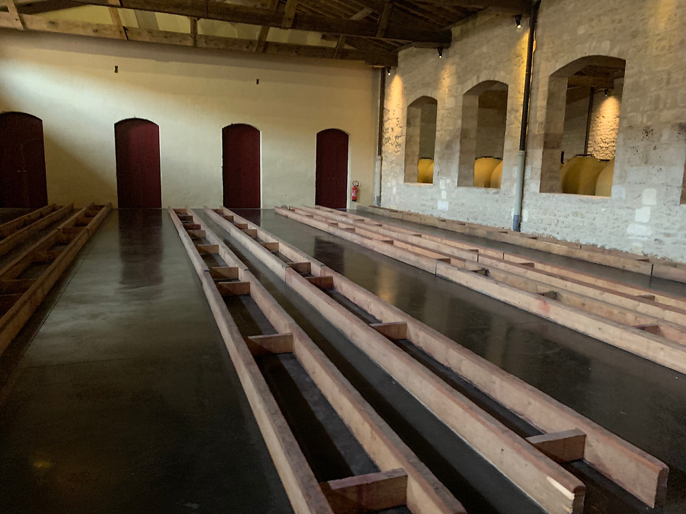 The empty chais at Pontet Canet