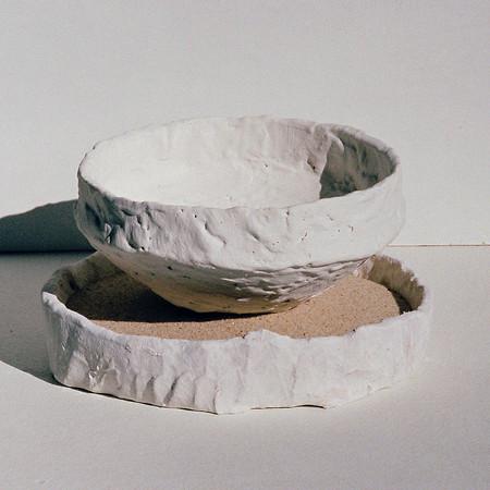 Bowl in Sand Saggar (pre-firing)