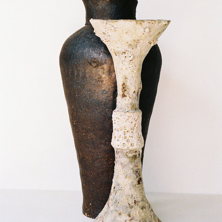 Woodfired Trachyte Vessel, Perforated Umber Ritual Vessel