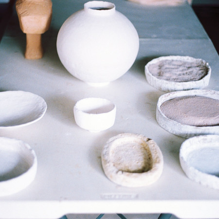 Pre-glazing, sand saggars