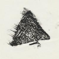 Glaze Shard Frottage II (Oil pastel)