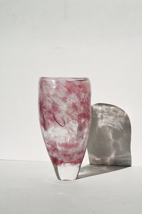 Smoked Pink Glass Vessel
