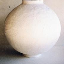 Glazed Moon, pre-firing