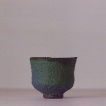 Cobalt Teabowl with Copper Flashing