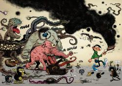 Clin d'oeil aux monstres de Franquin