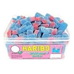 Haribo Fizzy Bubblegum Bottles Tub