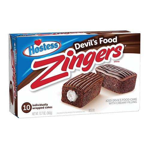 Hostess devils food individual zingers ( 1 cake )