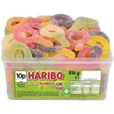 Haribo Giant Fizzy Suckers Tub