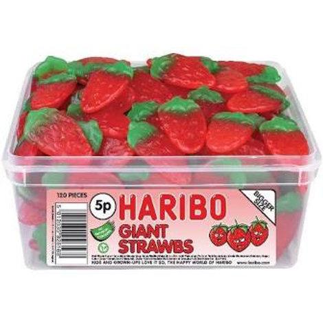 Haribo Giant Strawberries Tub