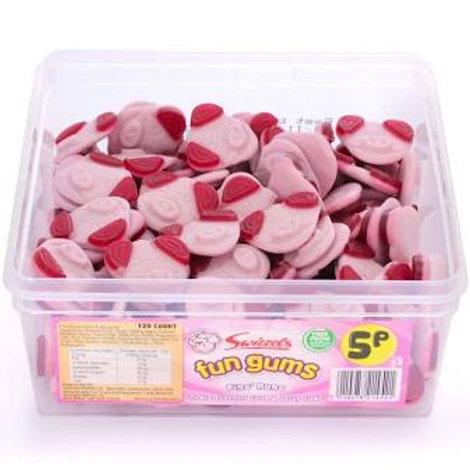 Pigs Mugs Fun Gums Tub