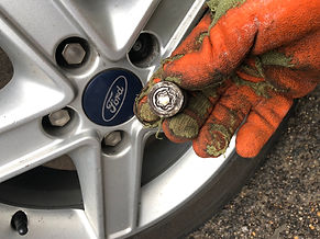 ford locking wheel nut removal