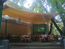 Парусный тент летнее кафе