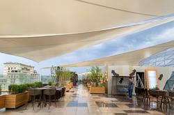 Парусный тент на крыше Ritz