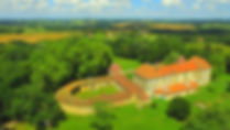 Château de Couloumé vu du ciel
