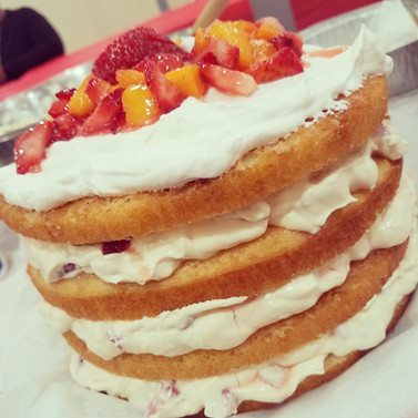 Summer Fruit Cream Cake