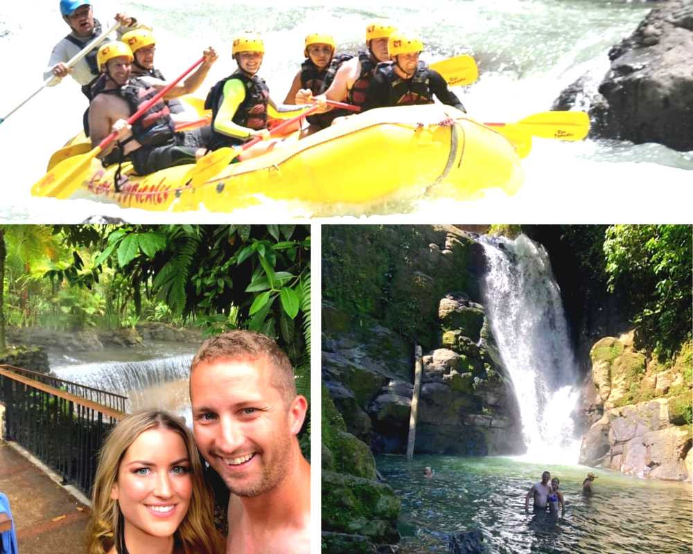 rafting, waterfalls, adventure filled honeymoon of young couple  to costa rica