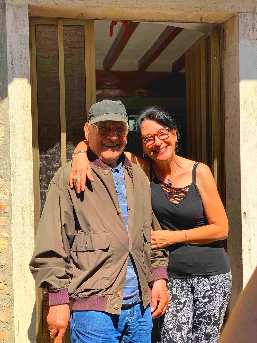 Guido and his daughter Marina of Scoppieto village, Umbria, Italy