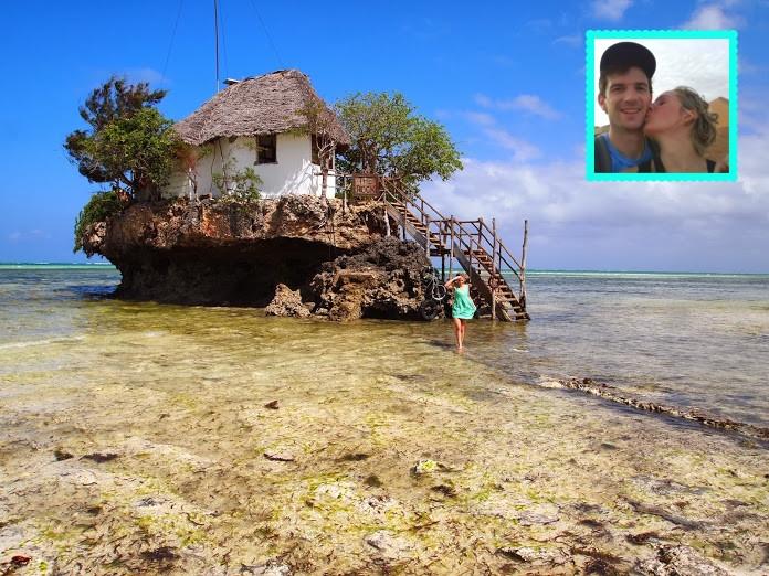 The Rock restaurant in Zanzibar - Blind Experiences customers on surprise honeymoon