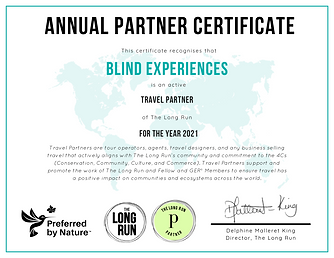 Blind Experiences TLR Certificate 2021.p
