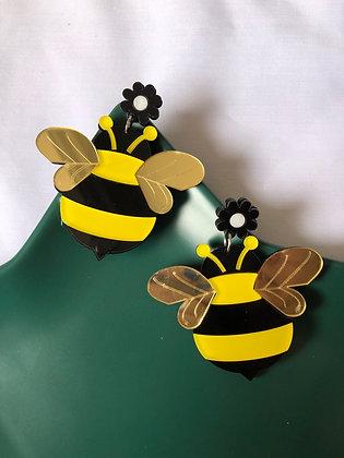 Bumble Bee Acrylic Earrings