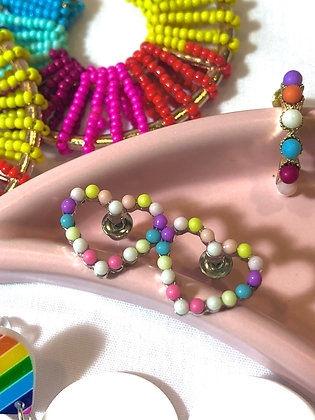 Mini Rainbow Heart-beads