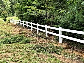 vinyl split rail fence, farm fence