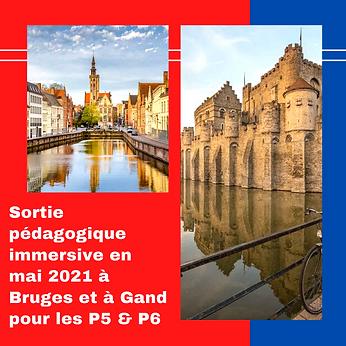 Sortie pédagogique immersive à Bruges et