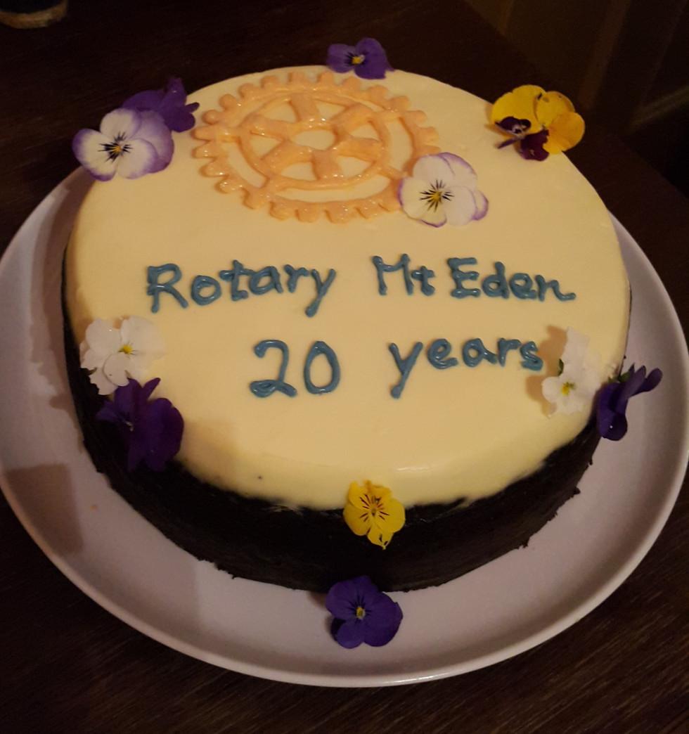 Happy 20th anniversary Rotary Mt Eden!